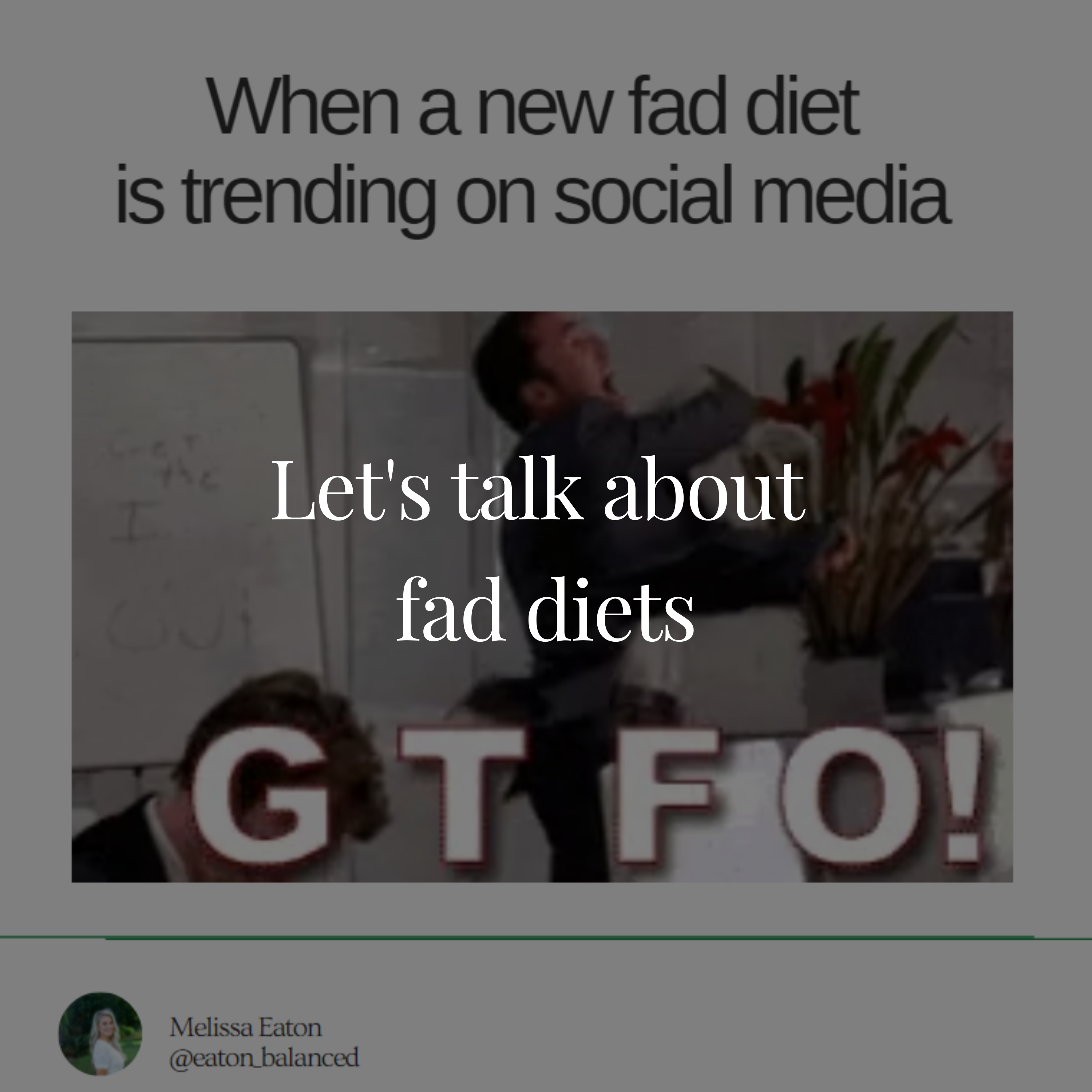 Let's talk about  fad diets