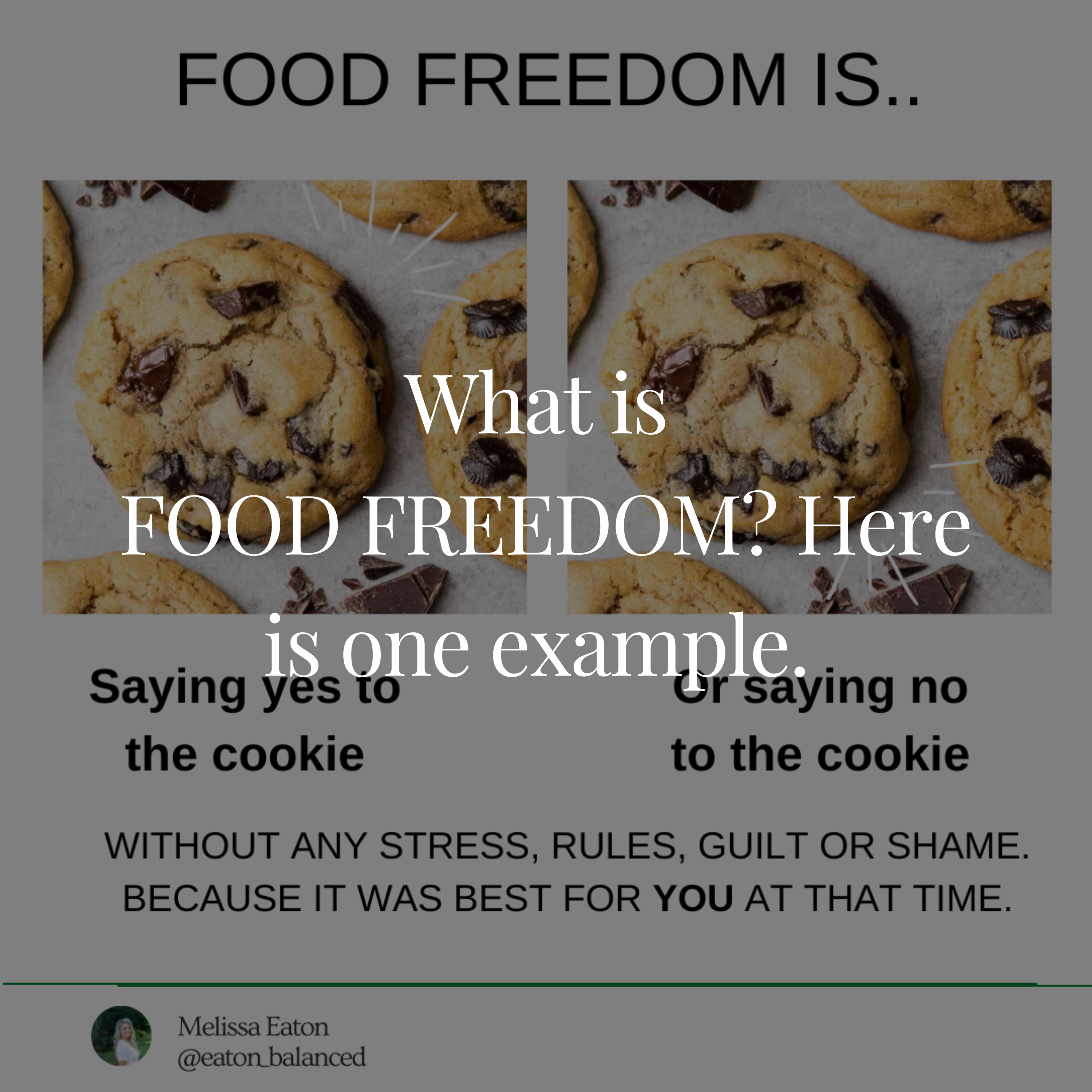 What is food freedom? Here is one example.